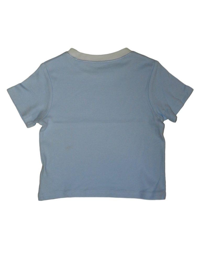 Hibátlan George Kék-fehér póló (74-80)