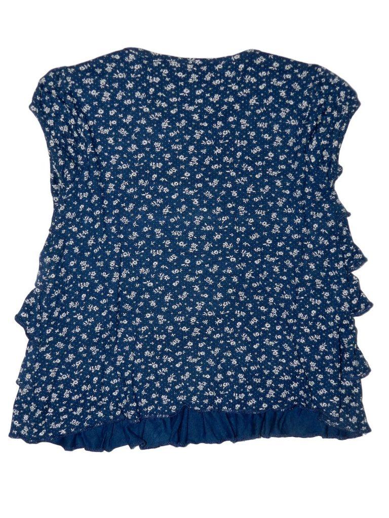 Újszerű Egyéb márka Kék, virágmintás felső (110-116)