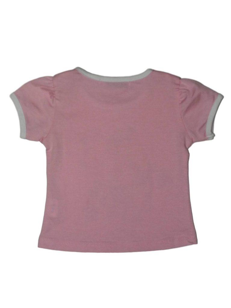 Újszerű Egyéb márka Rózsaszín, kislány mintás póló (80-86)