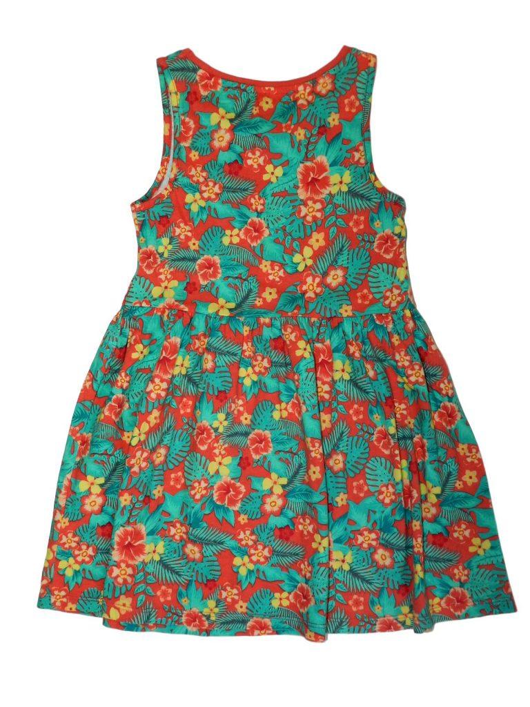 Jó állapotú F&F Virágos ruha (110-116)