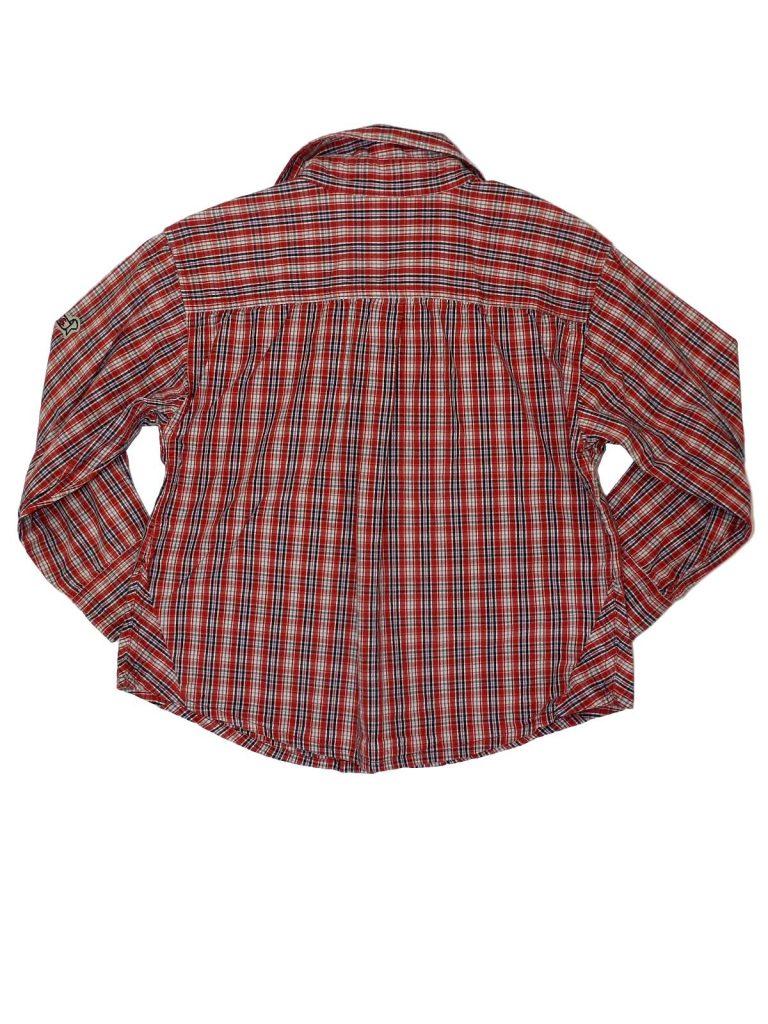 Újszerű H&M Piros kockás hosszú ujjú ing (104)