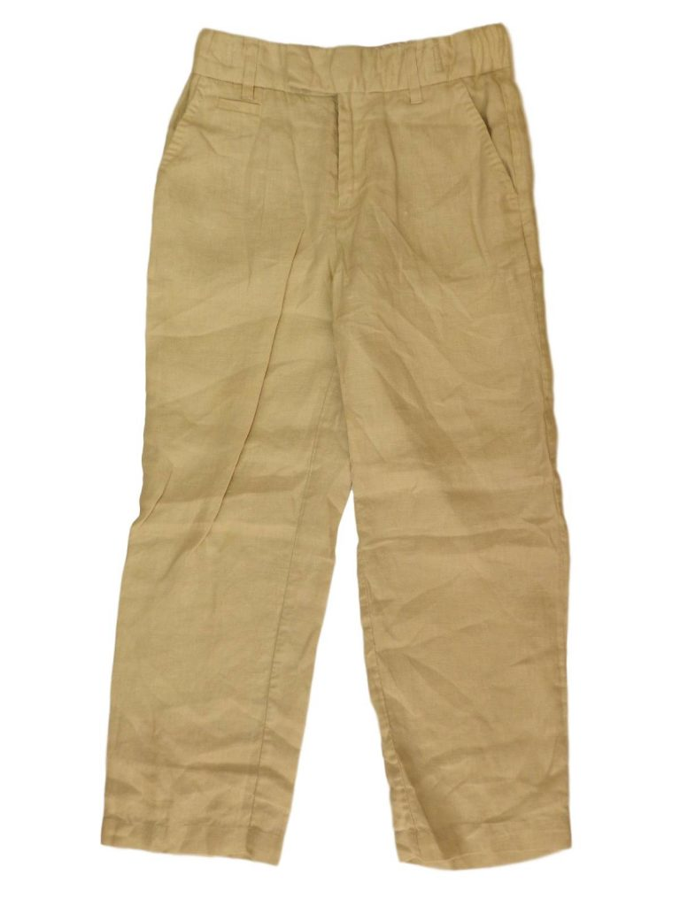 Újszerű Marks & Spencer Bézs színű lenvászon nadrág (134)