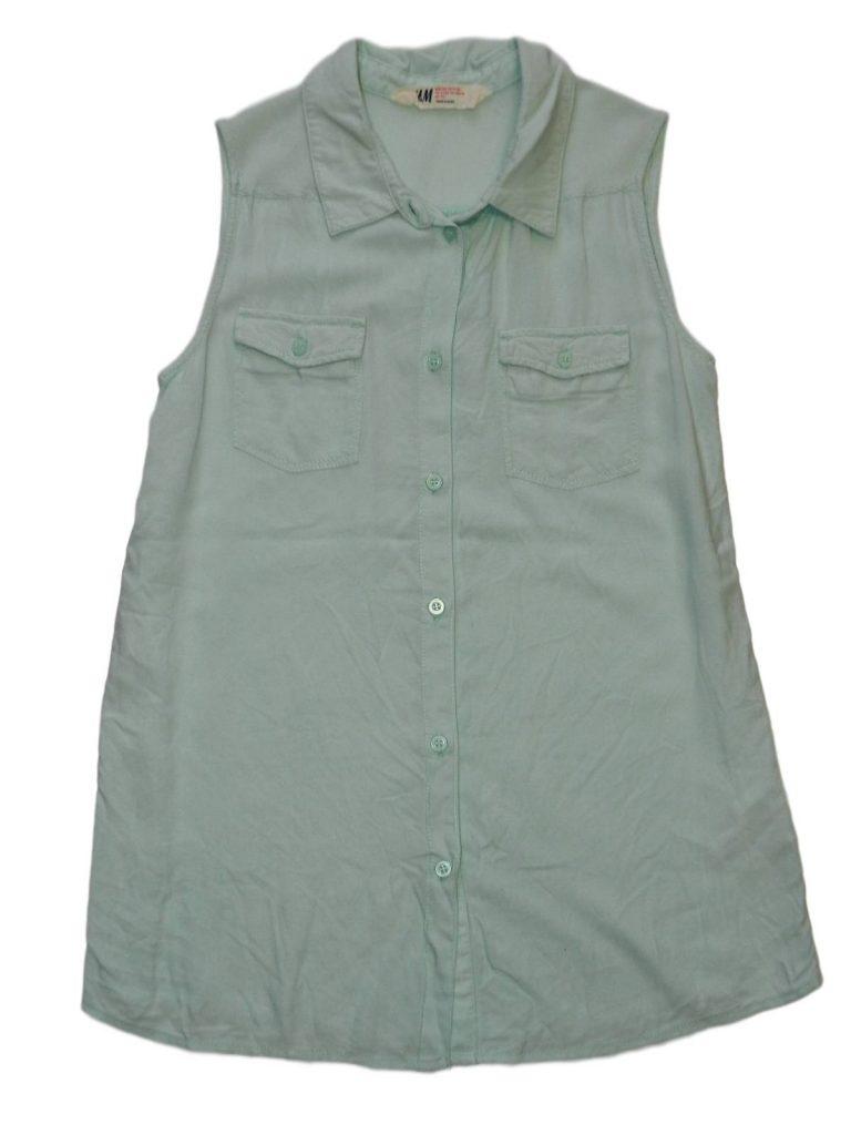 Újszerű H&M Zöld, ujjatlan blúz (152)