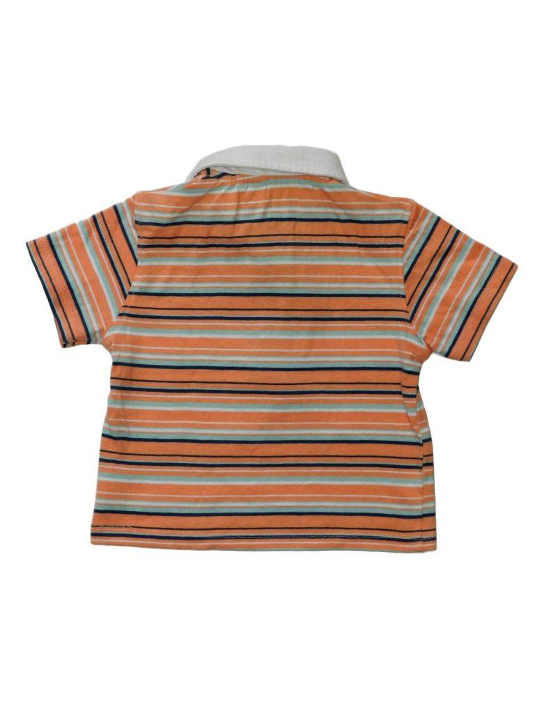 Újszerű TU Galléros, csíkos póló (74-80)