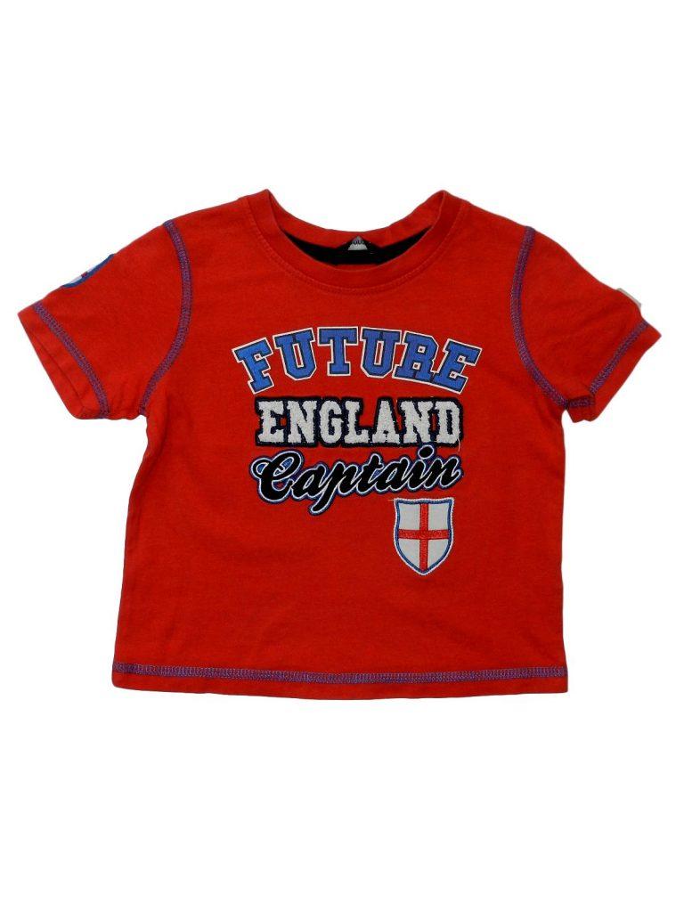 Újszerű George Piros, angliás póló (80-86)