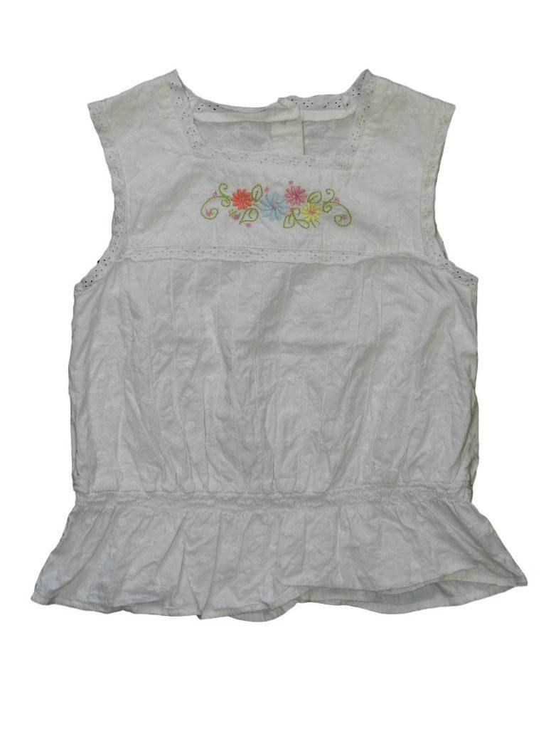 Jó állapotú Mothercare Virágos, csipkés tunika (122-128)
