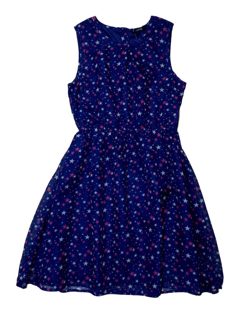 Újszerű George Csillag mintás ruha (152-158)