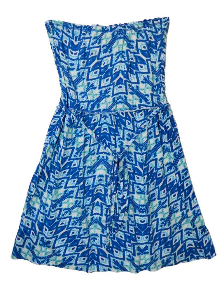 Újszerű F&F Kék-fehér mintás tunika (158-164)
