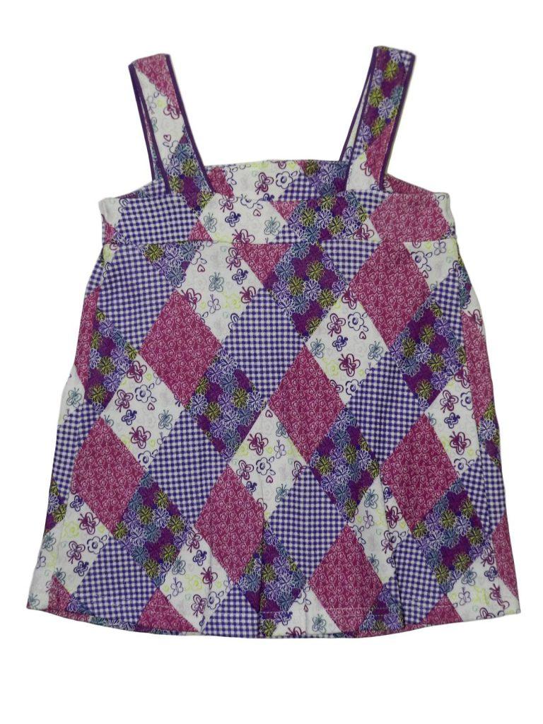 Újszerű F&F Színes ruha rombusz mintával (74-80)
