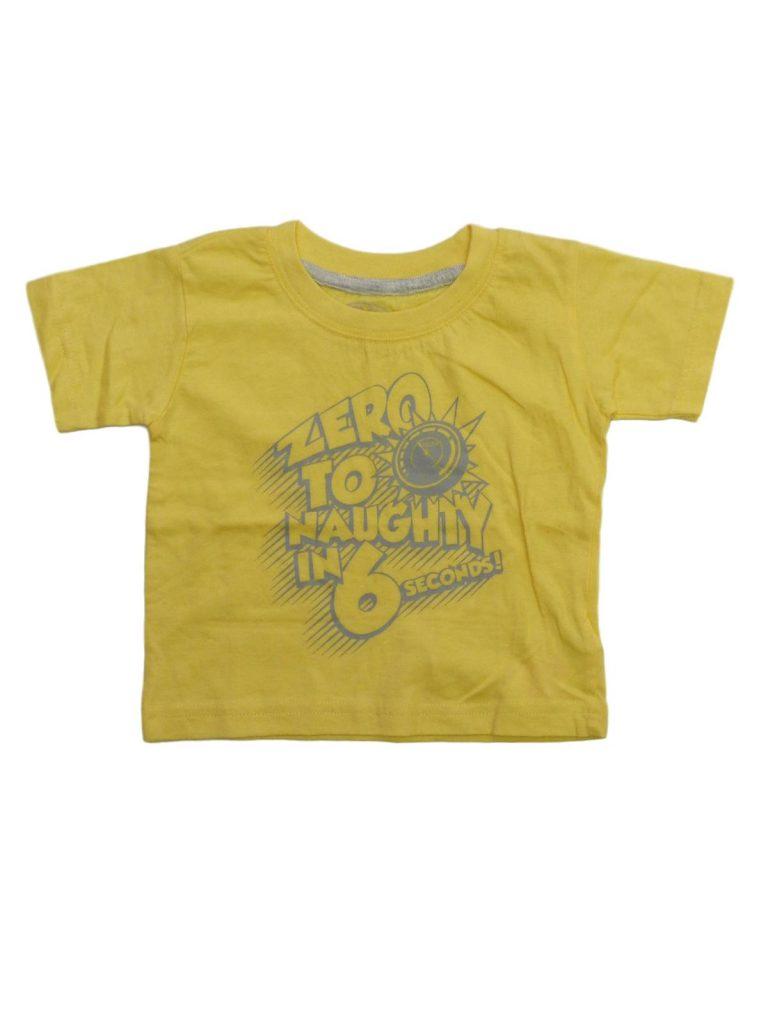Újszerű Early Days Sárga, feliratos póló (80-86)