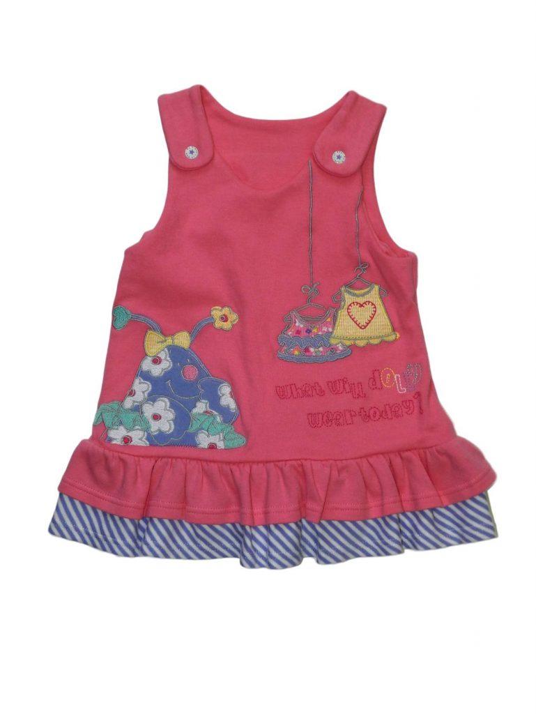 Újszerű Marks & Spencer Rózsaszín, karakteres ruha (56-62)
