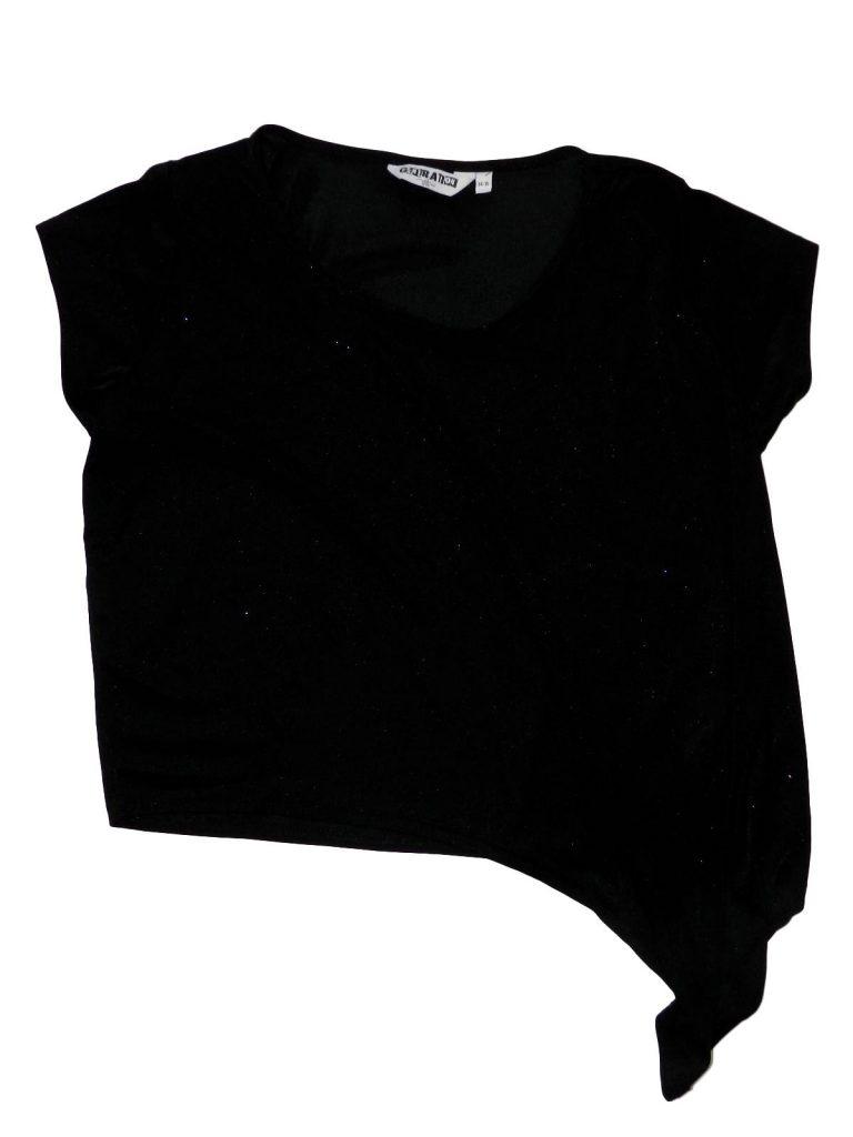 Újszerű New Look Fekete csillogó felső (164-170)