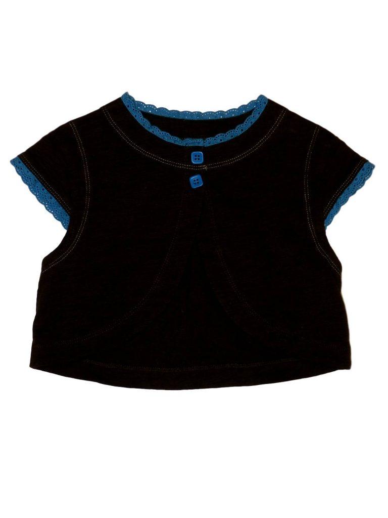 Hibátlan Mini Mode Barna-kék boleró (104-110)