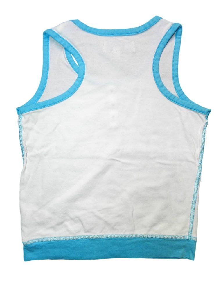 Újszerű Marks & Spencer Kék-fehér gombos felső (104-110)
