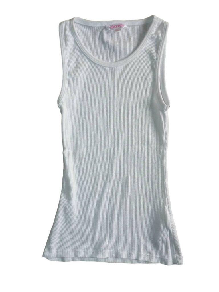 Újszerű Miss E-vie Fehér trikó (134-140)