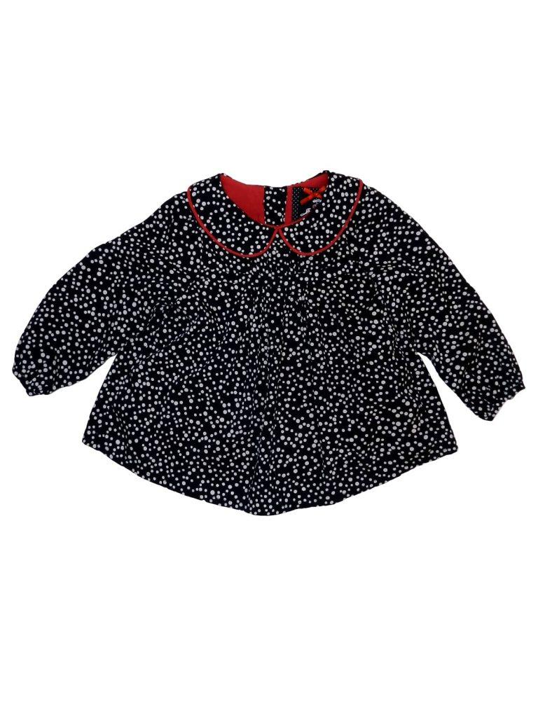 Új / Outlet Debenhams Fekete-fehér, pöttyös felső (80-86)