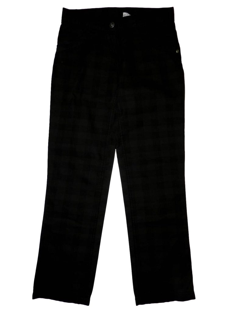 Új / Outlet Egyéb márka Sötétszürke, kockás nadrág (152)