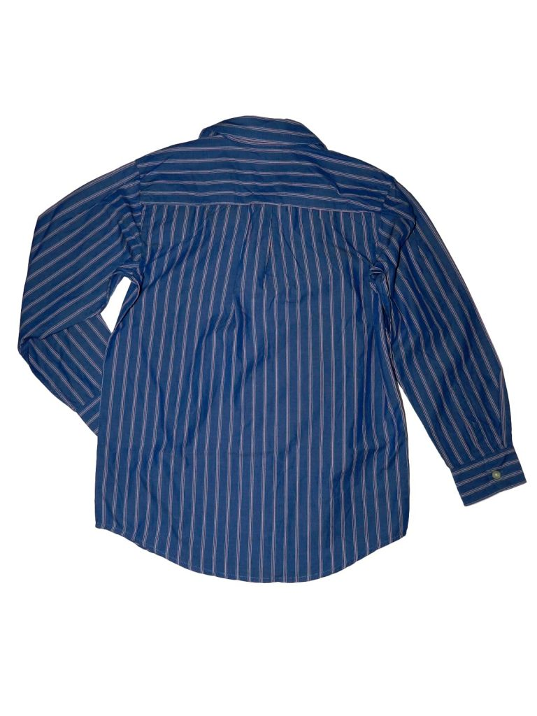 Újszerű Gap Kék, rózsaszín csíkos ing (140-146)