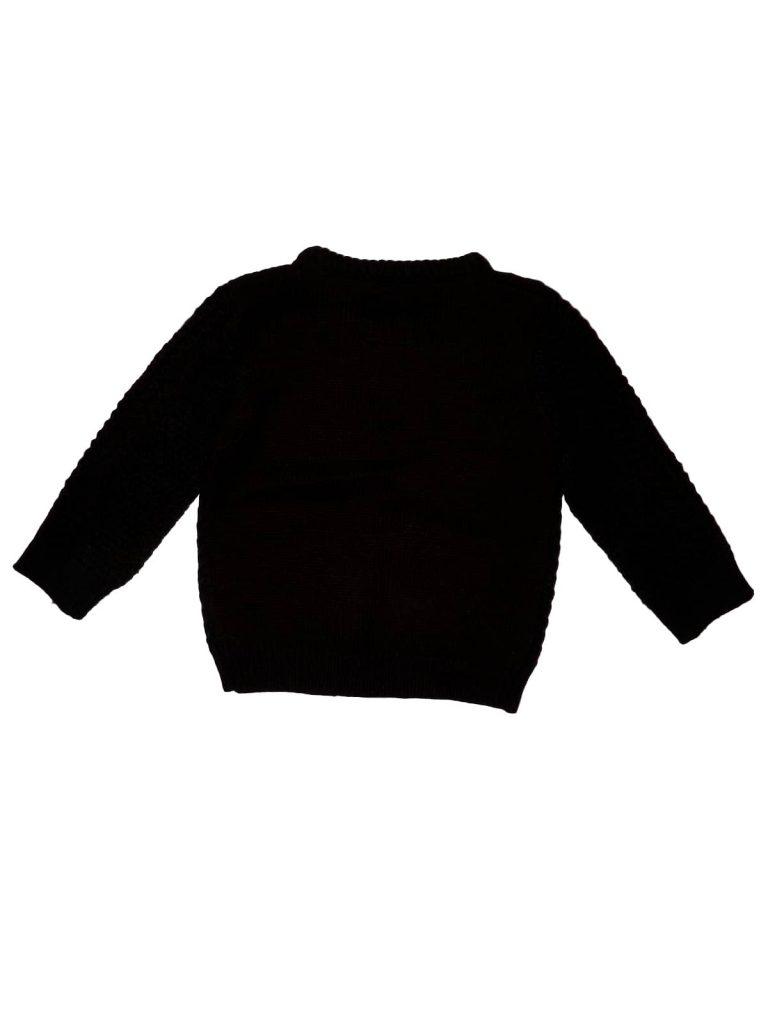 Újszerű Rebel Fekete-bordó kötött pulóver (110)