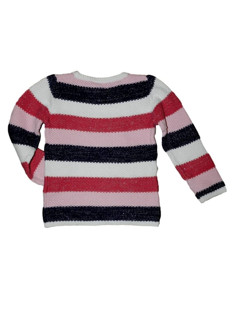 Hibátlan Egyéb márka Kötött, csíkos pulóver (128)