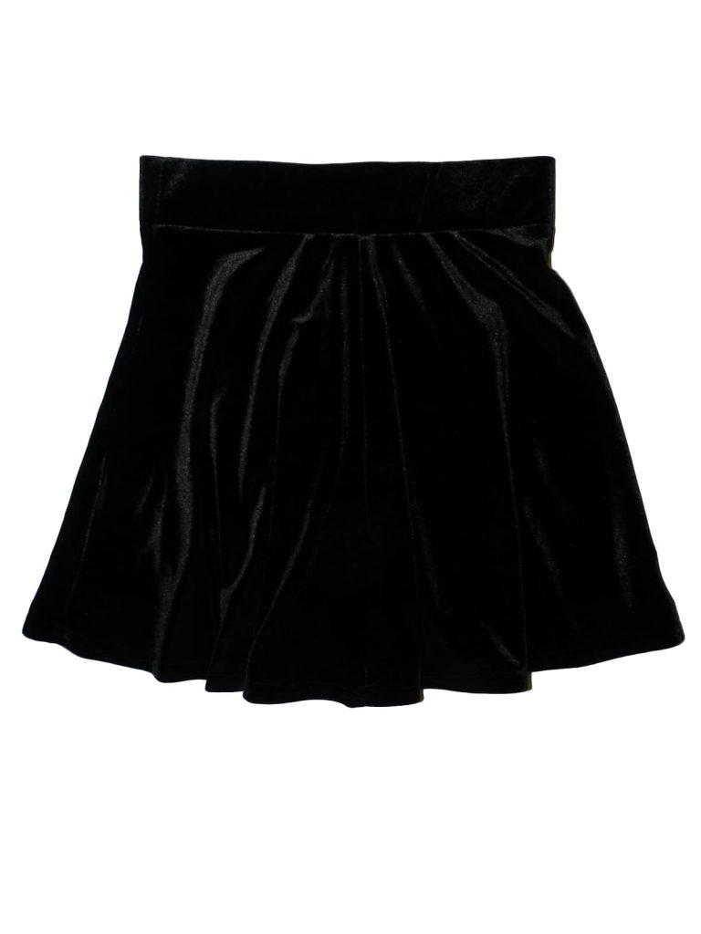 Új / Outlet New Look Fekete, bársony szoknya (140-146)