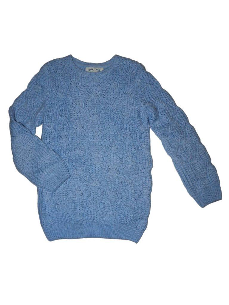 Új / Outlet Young Dimension Kék kötött pulóver (146-152)