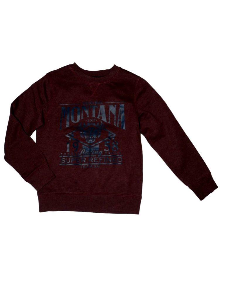 Újszerű George Bordó, feliratos pulóver (134-140)