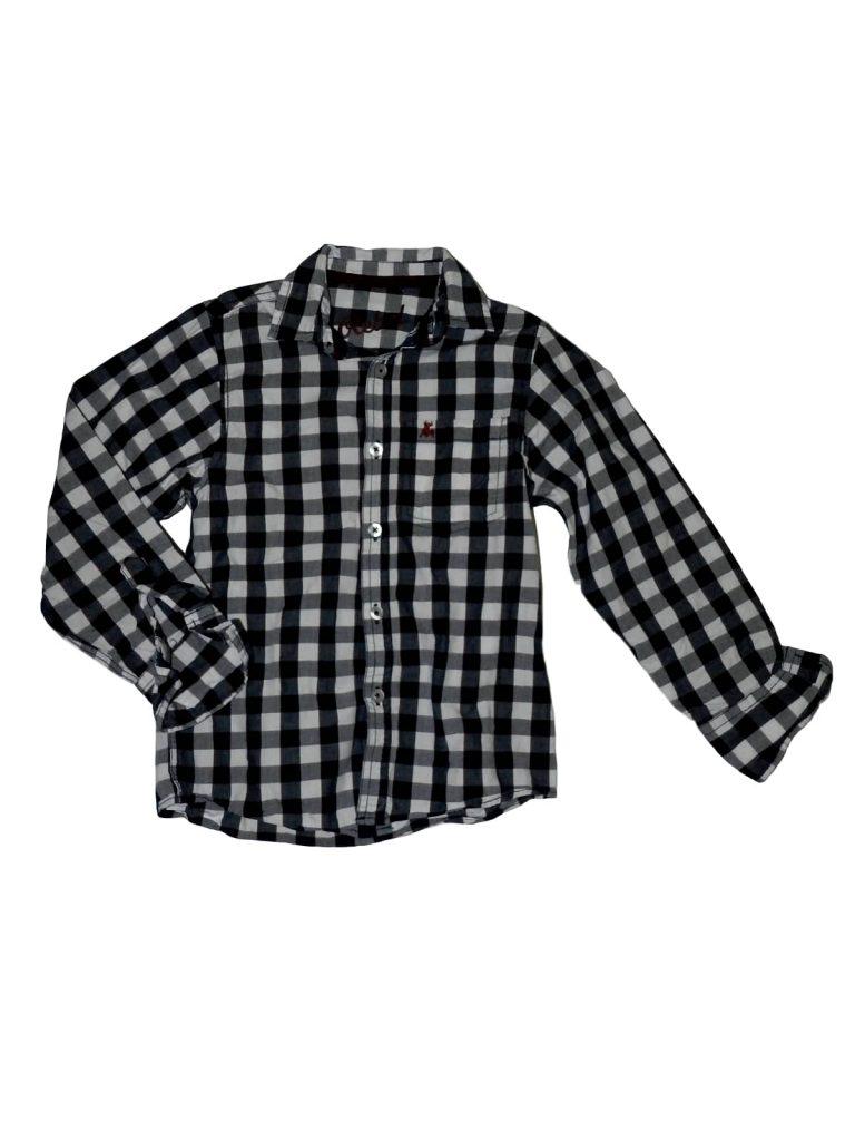 Újszerű Rebel Kék-fehér kockás ing (122-128)