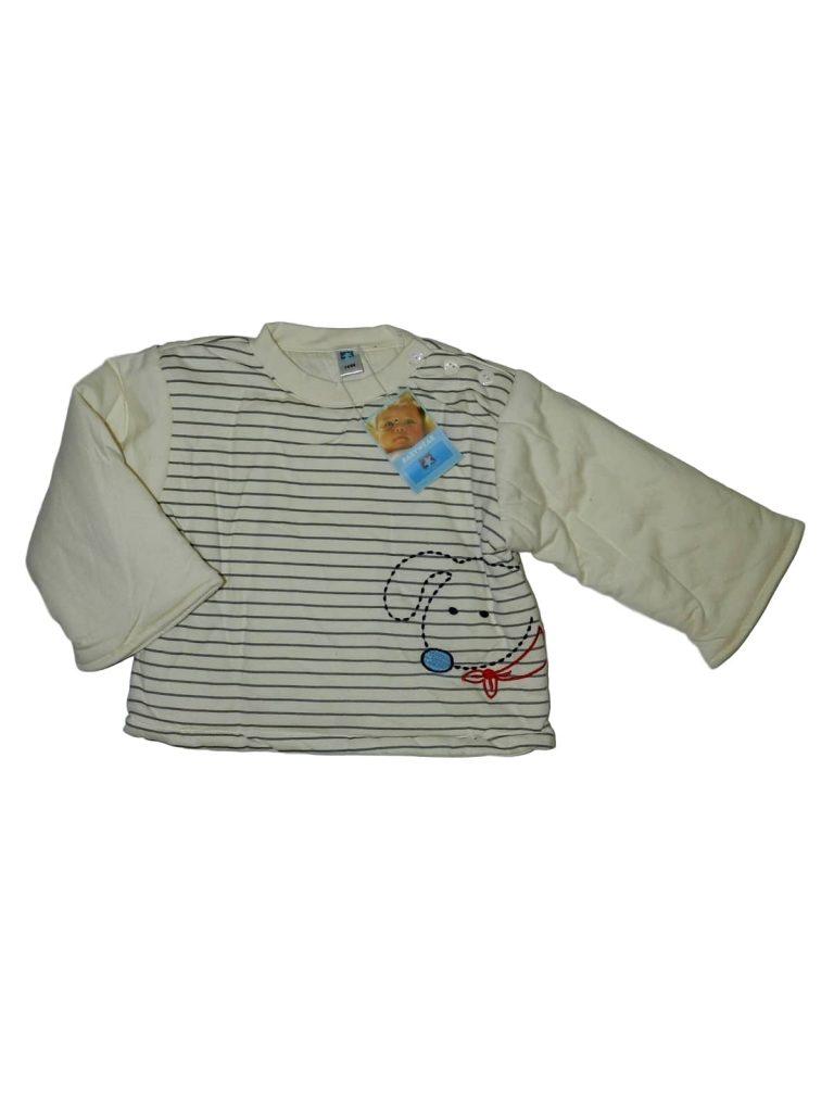 Új / Outlet Egyéb márka Kutya mintás, vastag pulóver (74-80)