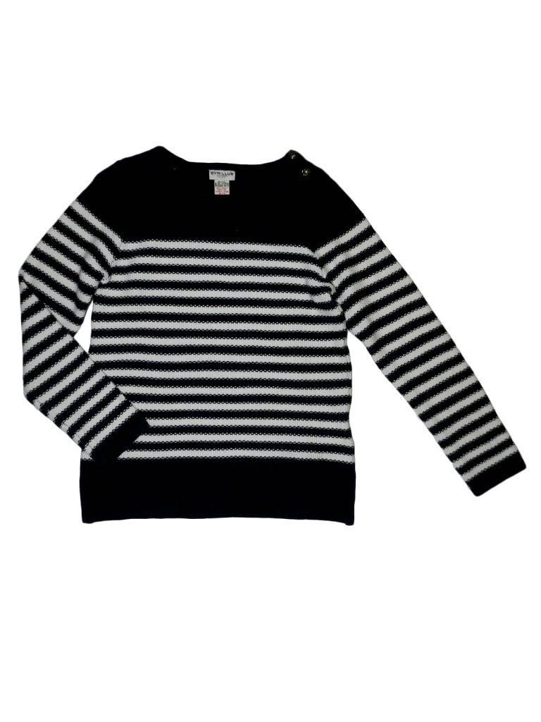 Új / Outlet Egyéb márka Kék-fehér csíkos pulóver (128)