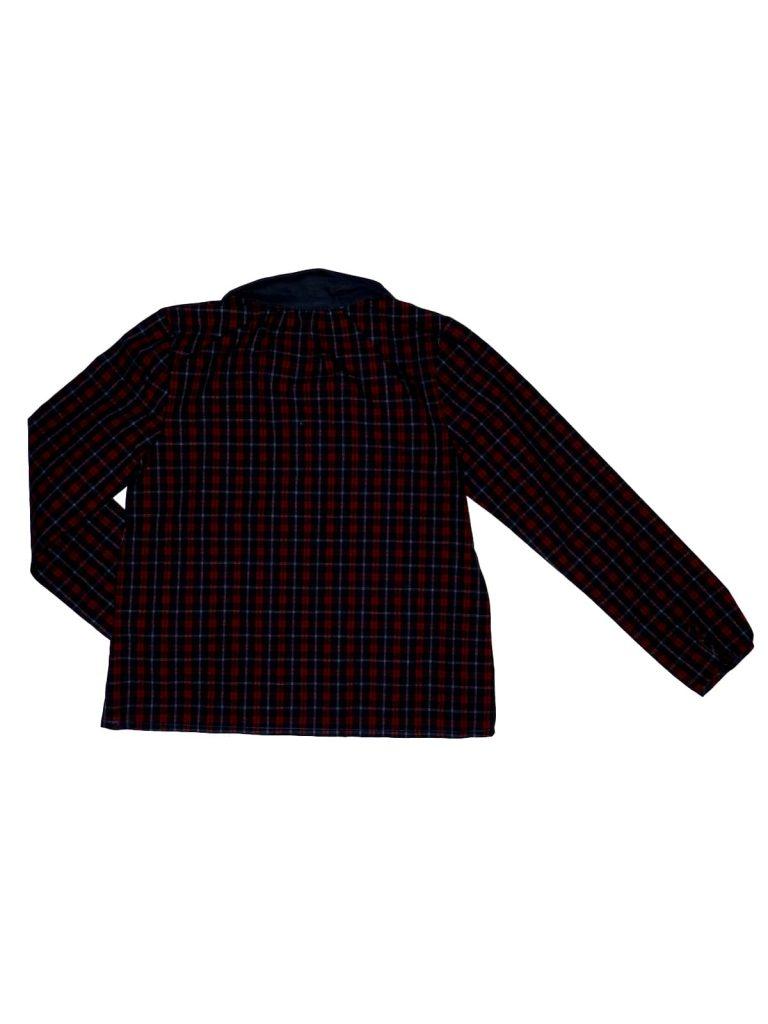 Új / Outlet Egyéb márka Bordó-kék kockás blúz (128)