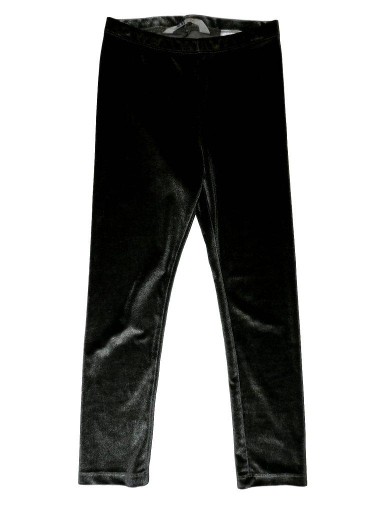 Újszerű H&M Szürke, csillogó vastag bársony  leggings (116)