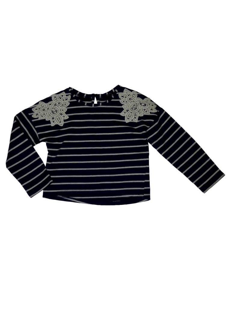 Újszerű George Kék, csíkos pulóver (110-116)