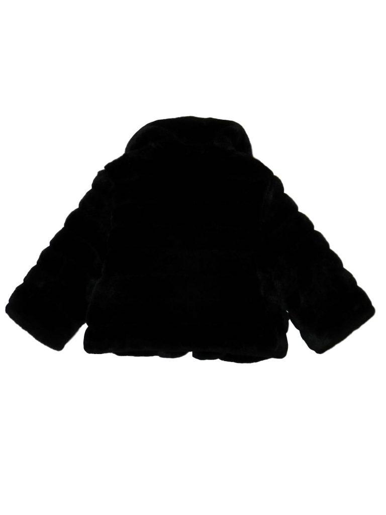 Újszerű Egyéb márka Fekete, műszőrme kabát (134-140)