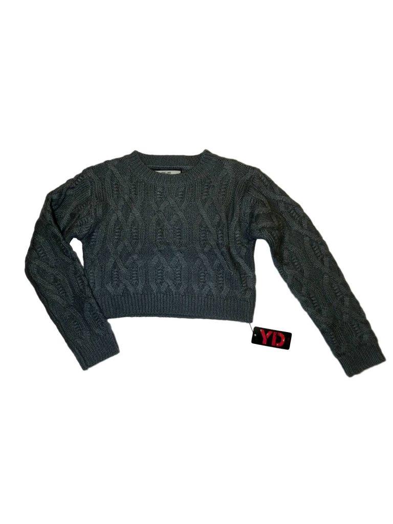 Új / Outlet Young Dimension Szürke, kötött rövid pulóver (128-134)