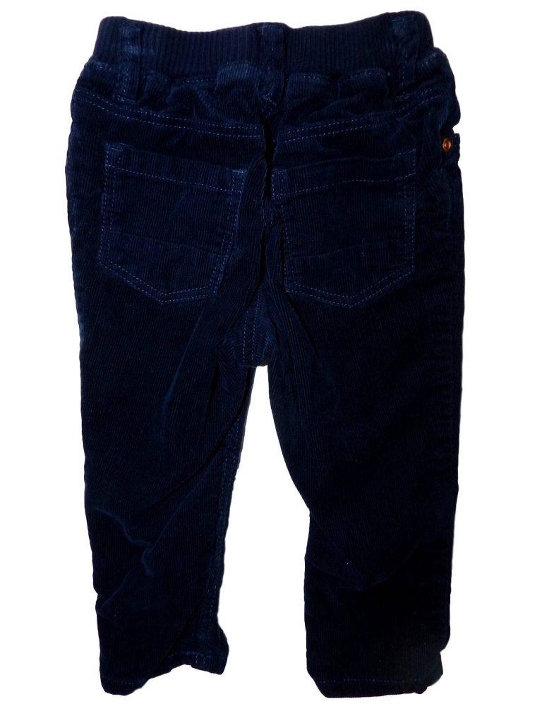 Hibátlan H&M Kék, kord nadrág (74-80)