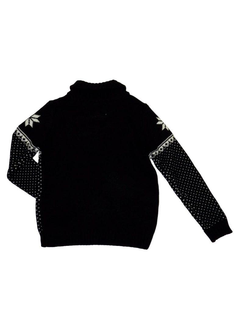 Újszerű Rebel Szarvas mintás, vastag, kötött pulóver (152-158)