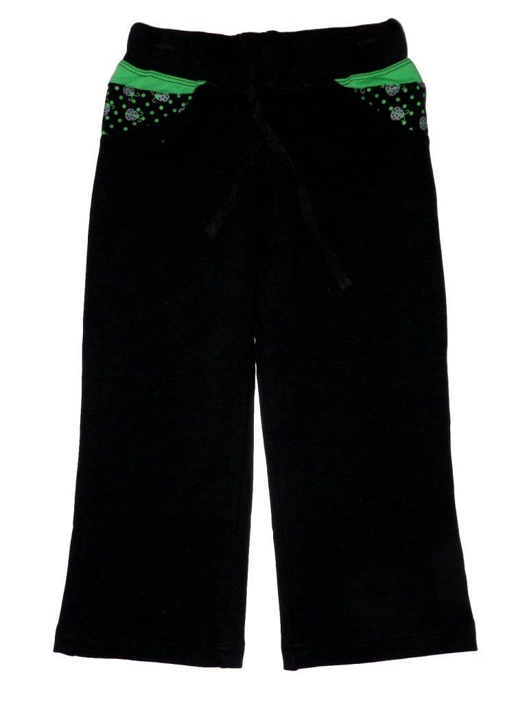 Hibátlan Egyéb márka Fekete, zöld melegítőnadrág (116)