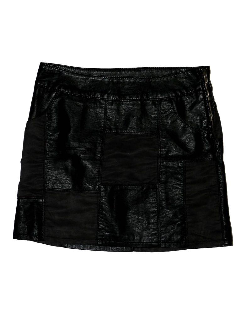 Újszerű H&M Zsebes, műbőr szoknya (140)