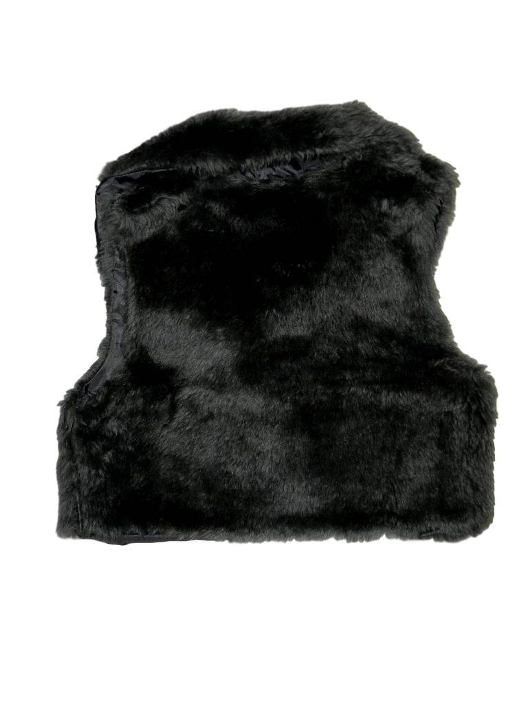 Hibátlan Egyéb márka Szürke, szőrmés mellény (146-152)