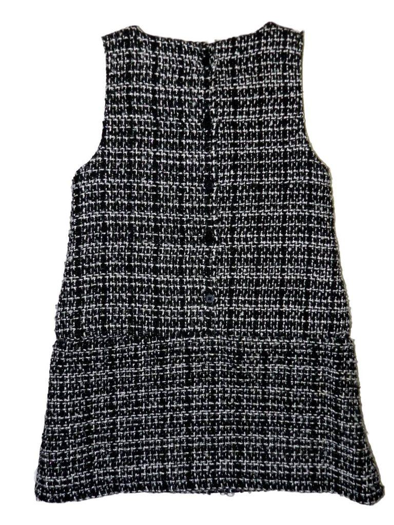 Jó állapotú Young Dimension Fekete-fehér ruha (98-104)