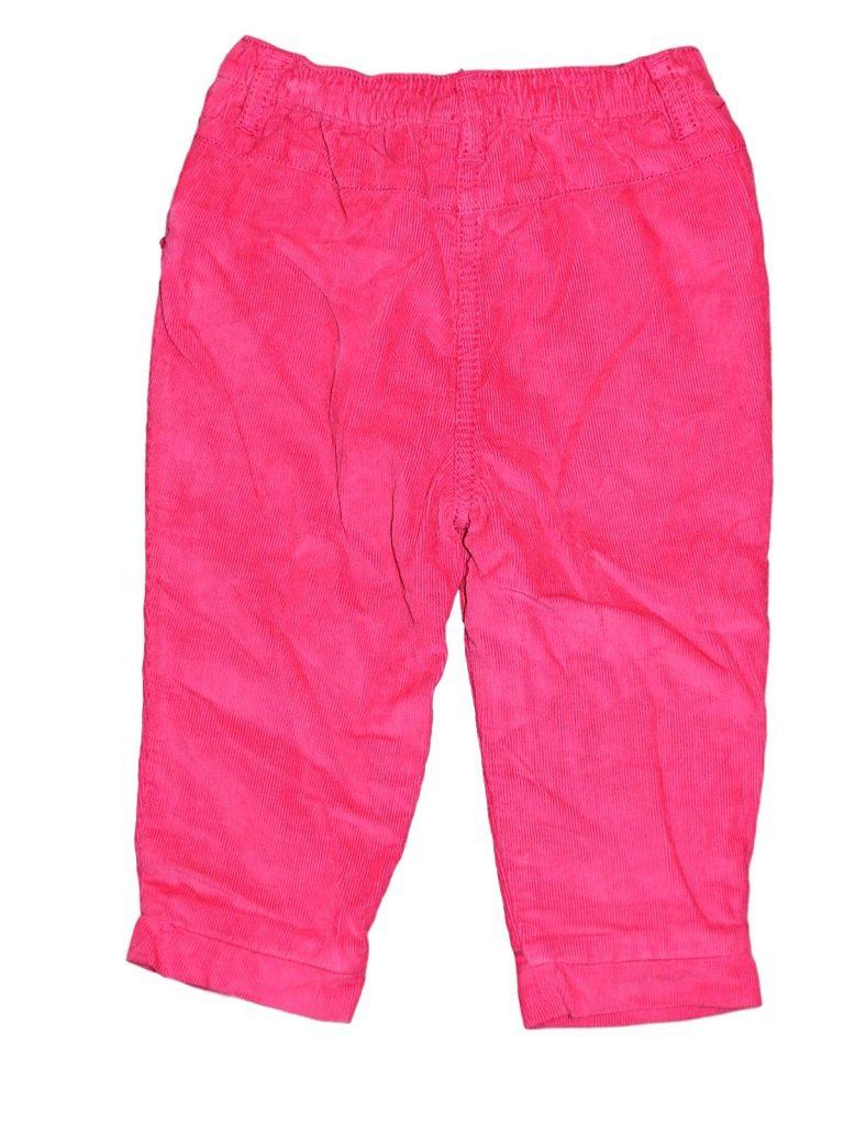 Újszerű F&F Pink, bélelt, kord nadrág (74-80)
