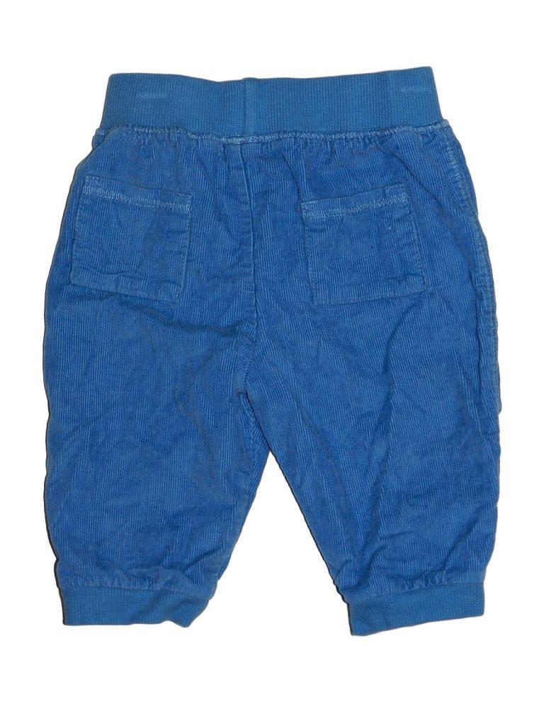 Jó állapotú Marks & Spencer Kék, bélelt kord nadrág (56-62)
