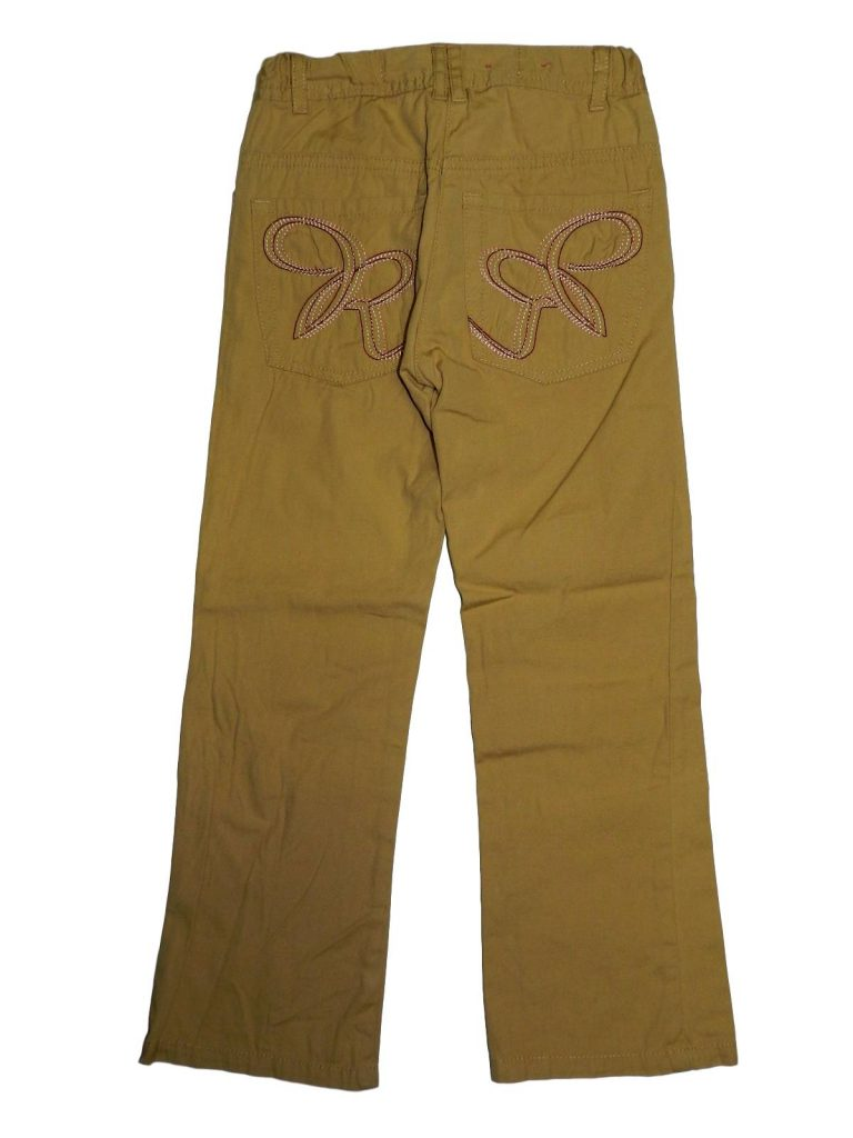 Hibátlan Egyéb márka Barna, hímzett nadrág (116)