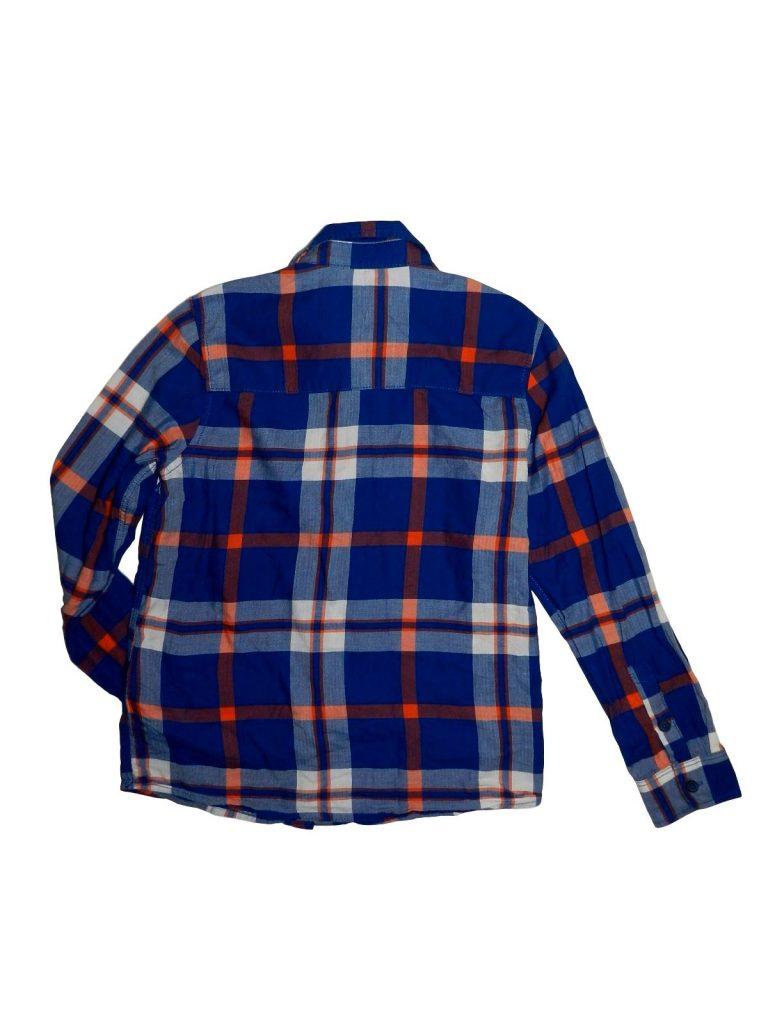 Újszerű H&M Kék-narancssárga kockás ing (140)