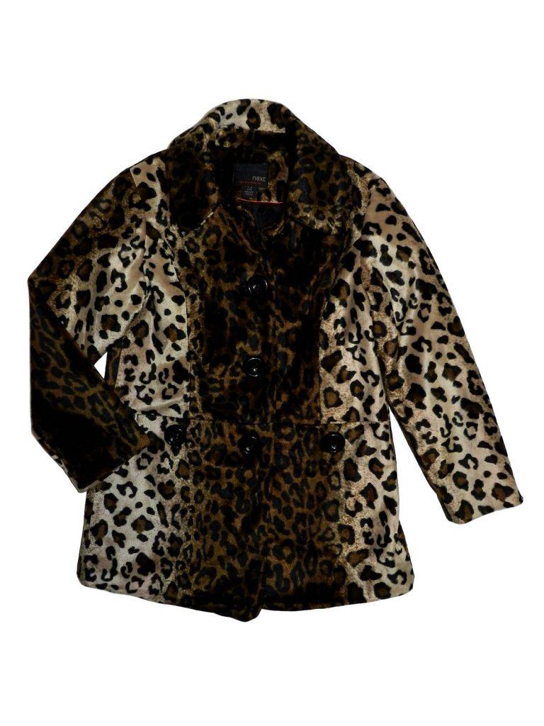 Újszerű Next Leopárd mintás átmeneti kabát (128)