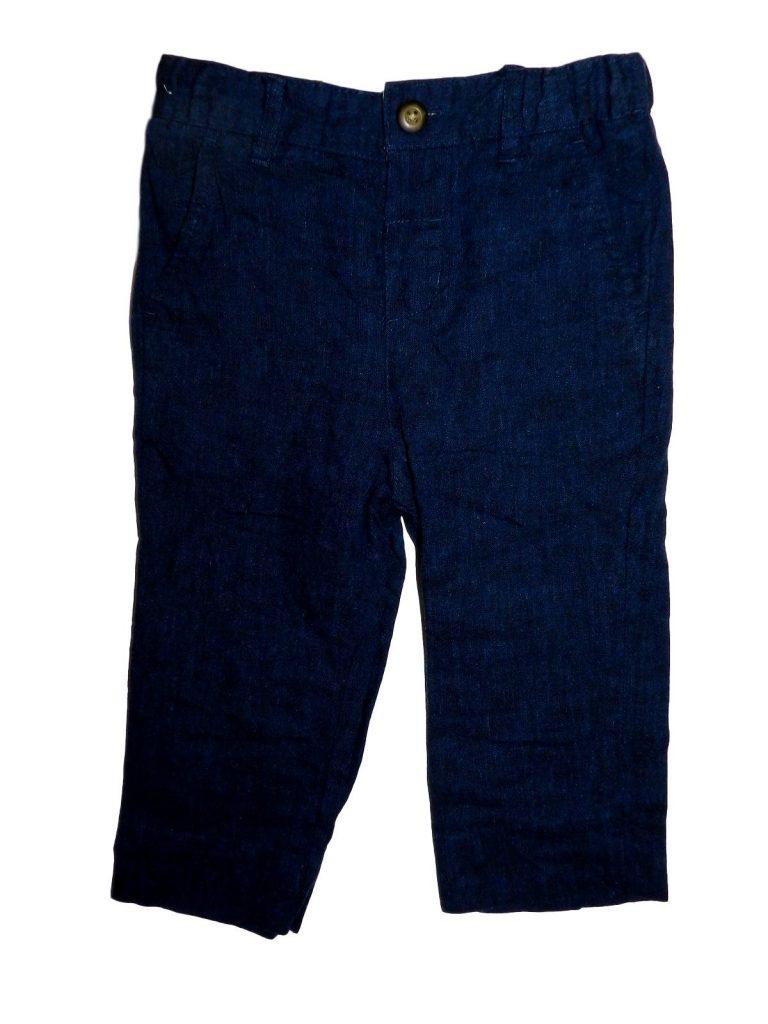 Újszerű Marks & Spencer Sötétkék alkalmi nadrág (86-92)