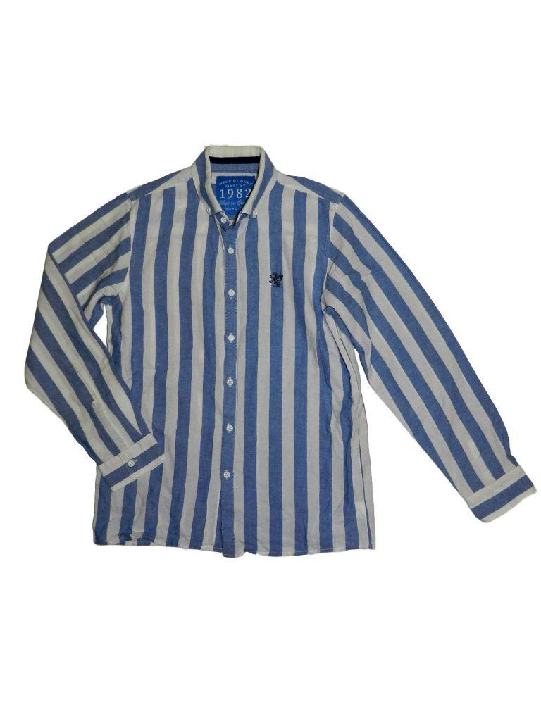 Hibátlan Next Kék-fehér csíkos ing (158)