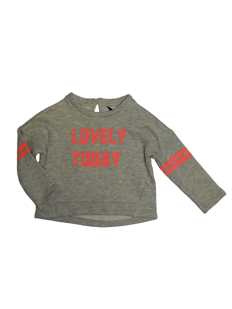 Új / Outlet George Pink feliratos pulóver (86-92)