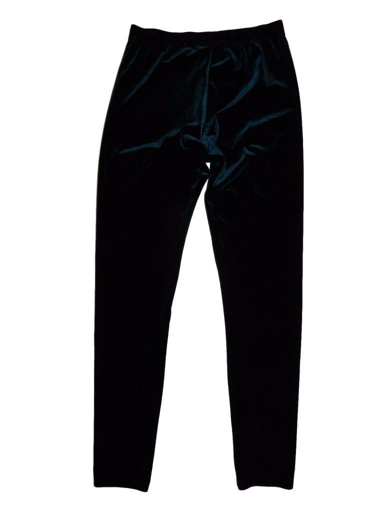Újszerű Next Sötétzöld, bársony leggings (152)